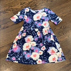 Bright short sleeve floral dress